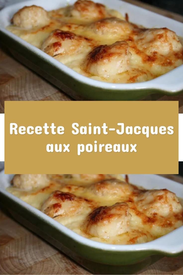 Recette Saint-Jacques aux poireaux