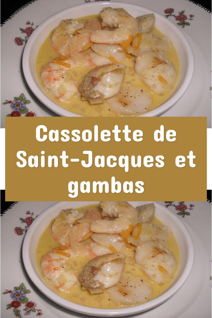 Cassolette de Saint-Jacques et gambas