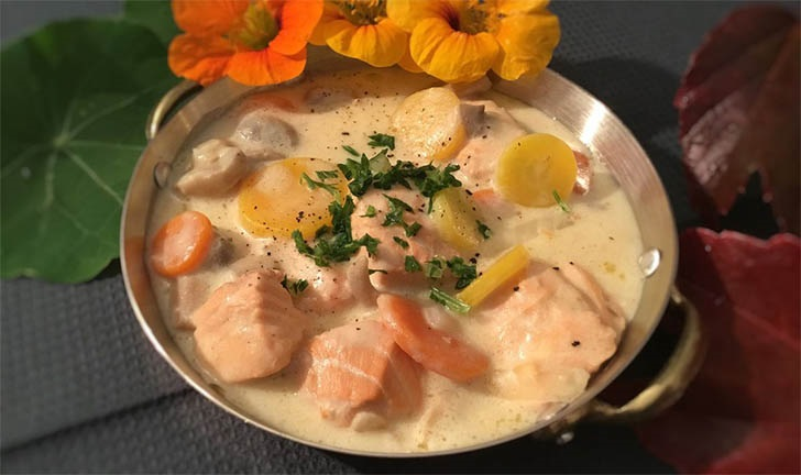 Blanquette de saumon un plat simple et rapide à préparer