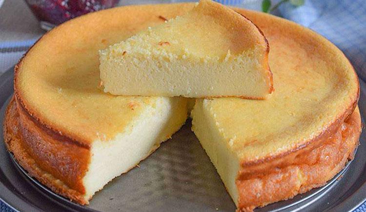 Gâteau au fromage blanc parfumé au citron