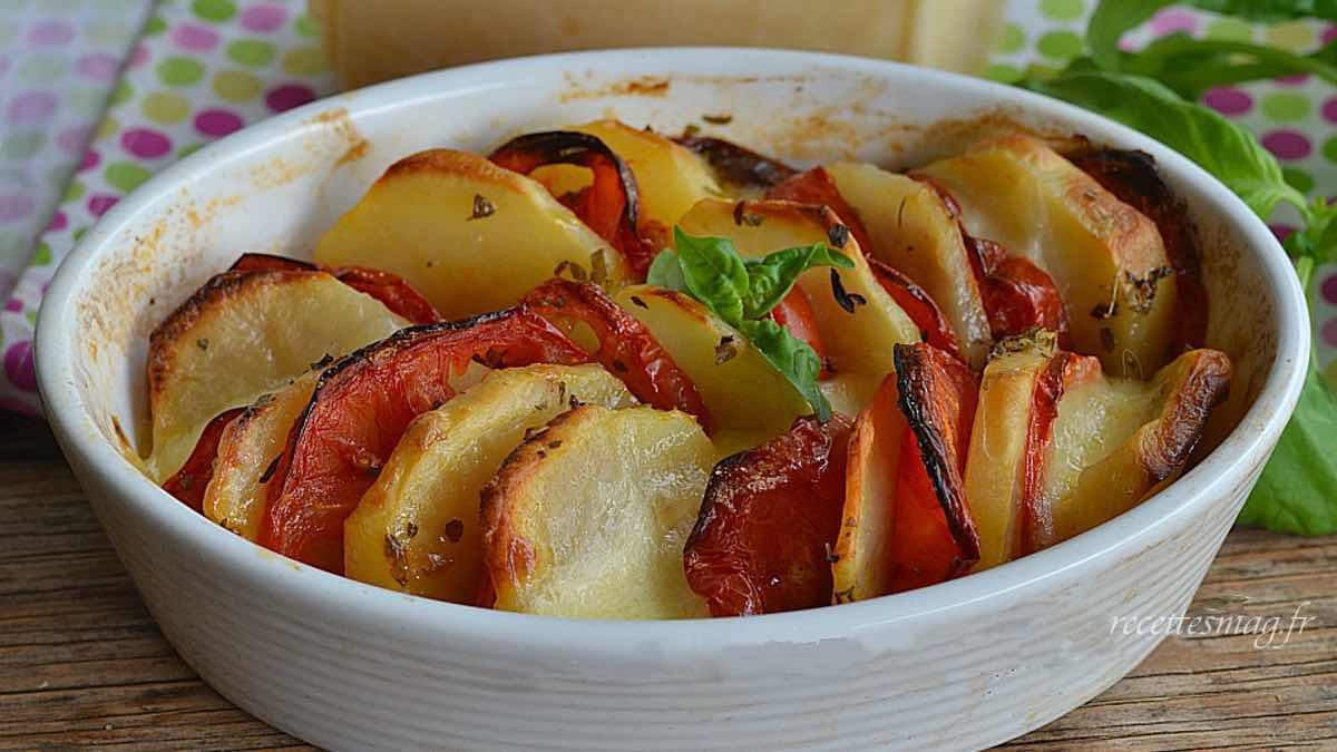 Gratin de pommes de terre aux tomates facile