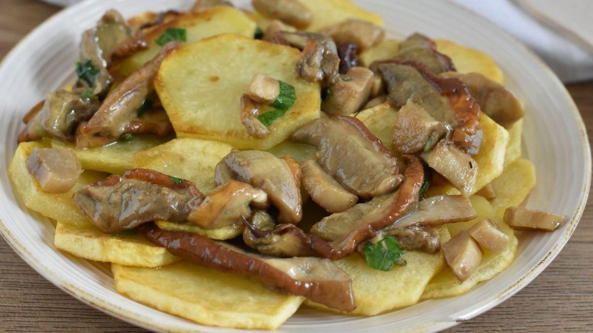 Poêlée de pommes de terre et de champignons