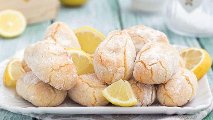 Recette biscuits au citron et aux amandes facile
