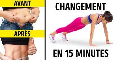 5 exercices pour transformer ton corps en 15 minutes !