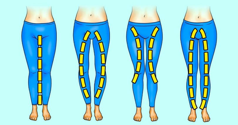Quels exercices dois-tu réaliser selon la forme de tes jambes ?
