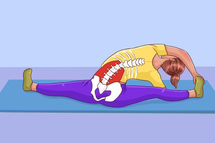 10 Étirements pour détendre ta colonne vertébrale après une longue journée