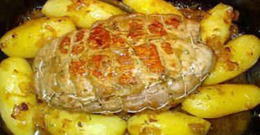 Rôti de veau aux pommes de terre au four